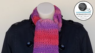 getlinkyoutube.com-Cross Stitch Scarf or Afghan Crochet Tutorial - Morris & Sons, Sydney