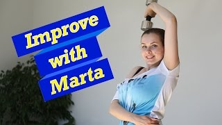 getlinkyoutube.com-Dumbbell of the head for triceps - Improve with Marta