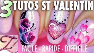 getlinkyoutube.com-3 Tutos nail art Spécial St Valentin : facile, expert et très rapide !