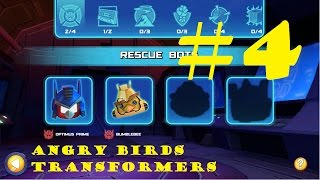 getlinkyoutube.com-Angry Birds Transformers #4 - Intellectual Games - OPTIMUS PRIME, BUMBLEBEE and SOUNDWAVE