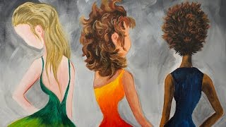 getlinkyoutube.com-Learn to paint Hair in Acrylic Paint for Beginning Artists #bigartquest