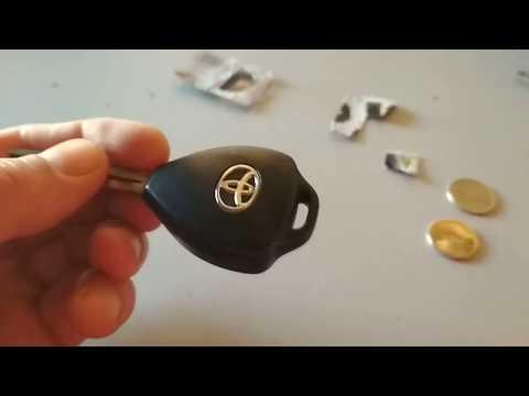 Замена батарейки ключа TOYOTA