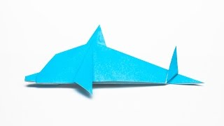 getlinkyoutube.com-How to make an easy Origami Dolphin step by step