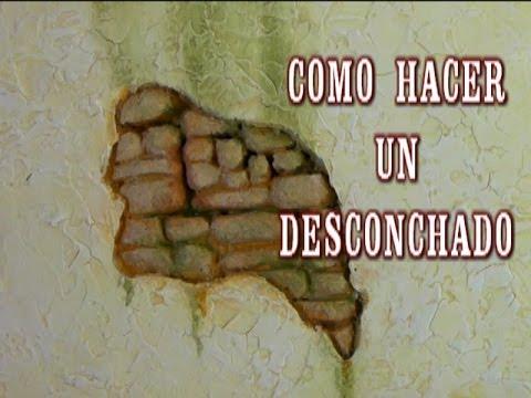 DIY PARED DE PIEDRA CON DESCONCHADO - CHIPPED THE WALLS OF HOUSES IN CRIBS HEBREW