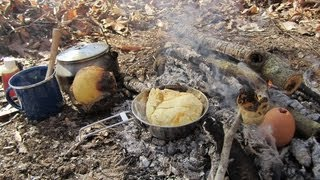 getlinkyoutube.com-Campfire Cooking - A Typical Morning Meal -