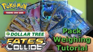 getlinkyoutube.com-Pokemon Fates Collide Dollar Tree Pack Weighing - Tutorial