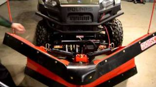 getlinkyoutube.com-Mounting a Boss Plow SmartHitch2 on the 2011 Polaris Ranger Diesel
