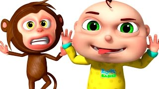 getlinkyoutube.com-Five Little Babies Playing With Monkeys | Zool Babies Fun Songs | Five Little Babies Collection