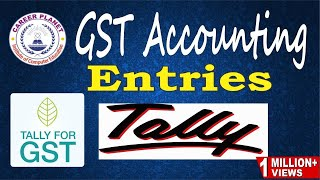 Tally ERP 9-GST Accounting Entries in Tally (Hindi) Part-2|GST Ledgers CGST SGST IGST Sales Purchase