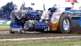 getlinkyoutube.com-Tractor Pulling Putten 2011 Whispering Giant finale 4500kg modified Beach Pull