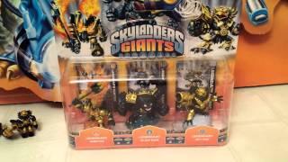 getlinkyoutube.com-Getting Some Skylanders Giants UNBOXING Legendary 3-Pack Ignitor Slam Bam Jet-Vac