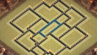 Clash of Clans -  Th9 war base Best 2015 anti 2 stars Hog rider Lavaloon Gowipe New Update + REPLAY
