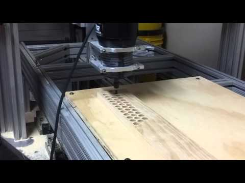 CNC router cutting ecig holder #1
