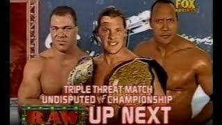 getlinkyoutube.com-Chris Jericho vs the Rock vs Kurt Angle | Undisputed championship | HD | Raw 2001