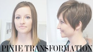getlinkyoutube.com-Pixie Haircut Transformation: Kara's Pixie Before and After