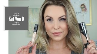 Kat Von D Lock-It Foundation Review & Demo || Foundation Friday - Elle Leary Artistry