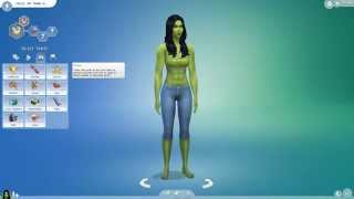 The Sims 4 Create A Sim Demo Female - She Hulk