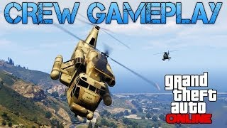 getlinkyoutube.com-Grand Theft Auto Online | PLAYING WITH CREW MEMBERS | FREE ROAM + CAR & PLANE RACES