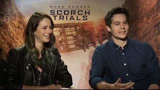 "getlinkyoutube.com-Watch the 'Maze Runner: The Scorch Trials' Cast Play ""Save or Kill"""