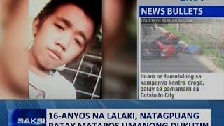 Saksi: 16-anyos na lalaki, natagpuang patay matapos umanong dukutin