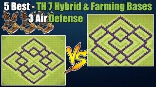 getlinkyoutube.com-Clash of Clans - Top 5 Best Town hall 7 (Th7) Farming Base & Hybrid Base ANTi Dragon 3 Air Defenses