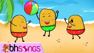 getlinkyoutube.com-One Potato, Two Potatoes lyrics song  Lead Vocal | Nursery Rhymes TV | Ultra HD 4K Music Video