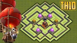 getlinkyoutube.com-Clash of clans - Town Hall 10 (TH10) Epic Farming / Hybrid Base 2016
