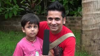 SUJIT PUNJABI & KID MAYANK ON THE SETS OF FILM HUM HAIN RANGEELAY
