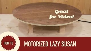 getlinkyoutube.com-How to Make a Motorized Lazy Susan. Perfect for Shooting Video!
