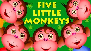 getlinkyoutube.com-Five Little Monkeys Jumping On The Bed And More Monkey Songs