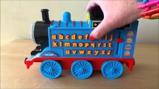 getlinkyoutube.com-Thomas the Tank Engine phonics numbers and alphabet learning computer kindergarten toy