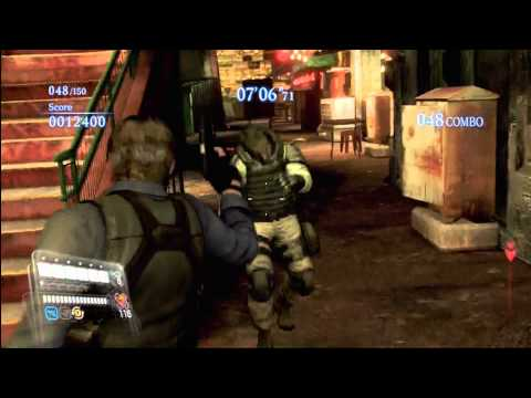 Resident Evil 6 The Mercenaries: Leon & Ada Wong Duo (Rank S) 130 COMBO! Urban Chaos!