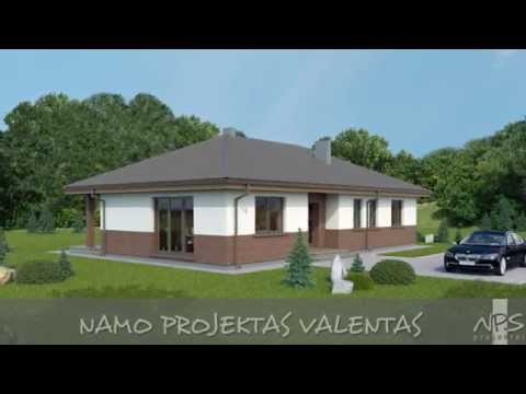 Vieno aukšto namo projektas Valentas | NPS projektai - namų projektavimas, statyba
