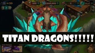 getlinkyoutube.com-Rise of Berk - Gameplay Dragon level 60 - Titan Dragons!!!!