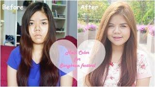 getlinkyoutube.com-How to เปลี่ยนสีผมด้วยตัวเองง่ายๆ ต้อนรับวันสงกรานต์ | Liese Creamy Bubble Color