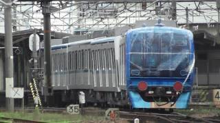 getlinkyoutube.com-今にも脱線しそうな東京メトロの甲種輸送  EF66 114(吹) 横川~広島 2011.6
