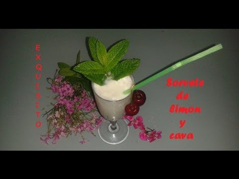 Sorbete de Limon y Cava