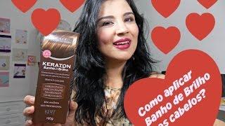 getlinkyoutube.com-Como aplicar o Banho de Brilho da Keraton nos cabelos! | Rosa Chiclets