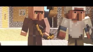 getlinkyoutube.com-Epica pelea de aldeanos - Minecraft Animacion/ Epic fight villager-Animation