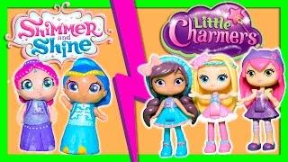 getlinkyoutube.com-SHIMMER & SHINE vs LITTLE CHARMERS Surprise Magic Game Funny Kids Video