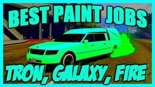"""GTA 5 Paint Jobs: Best Rare Paint Jobs Online! (TRON, GALAXY, FIRE) """"GTA 5 Secret Paint Jobs"""""""