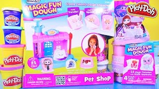 getlinkyoutube.com-Play Doh Videos Magic Fun Dough Playset Toys Littlest Pet Shop Surprise LPS - Disney Cars Toy Club