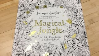 getlinkyoutube.com-Magical Jungle by Johanna Basford Adult Coloring Book Review, Flipthrough and Media Test