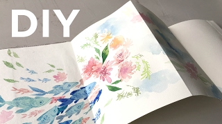 getlinkyoutube.com-DIY: Easy No Sew Sketchbook + Speedpaint