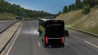 Euro Truck Simulator 2 Bus trip to Bern with Busscar Busstar DD 6x2