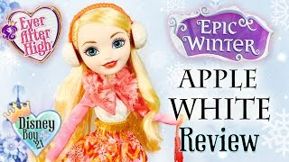 getlinkyoutube.com-Ever After High  Epic Winter Apple White Doll Review