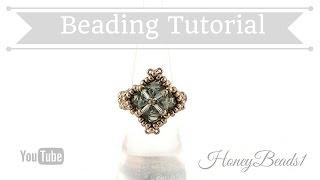 getlinkyoutube.com-Cute Cubes Ring Beading Tutorial by Honeybeads1