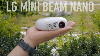 getlinkyoutube.com-Pocket Projector? LG Mini Beam Nano Review!