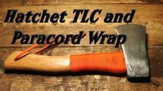 getlinkyoutube.com-Hatchet TLC and Paracord Wrap