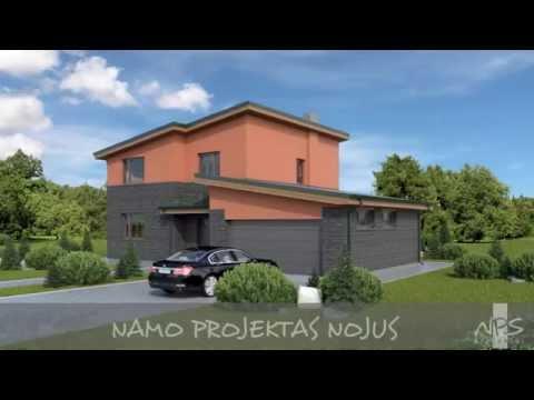 Dviejų aukštų namo projektas Nojus   NPS projektai - namų projektavimas, statyba